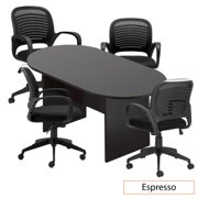 6ft. Racetrack Conference Table with 4 Chairs (G10901) - Espresso