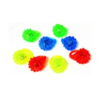 Flashing LED Light Up Toys, Glow In The Dark Bumpy Rings (72-Pack)
