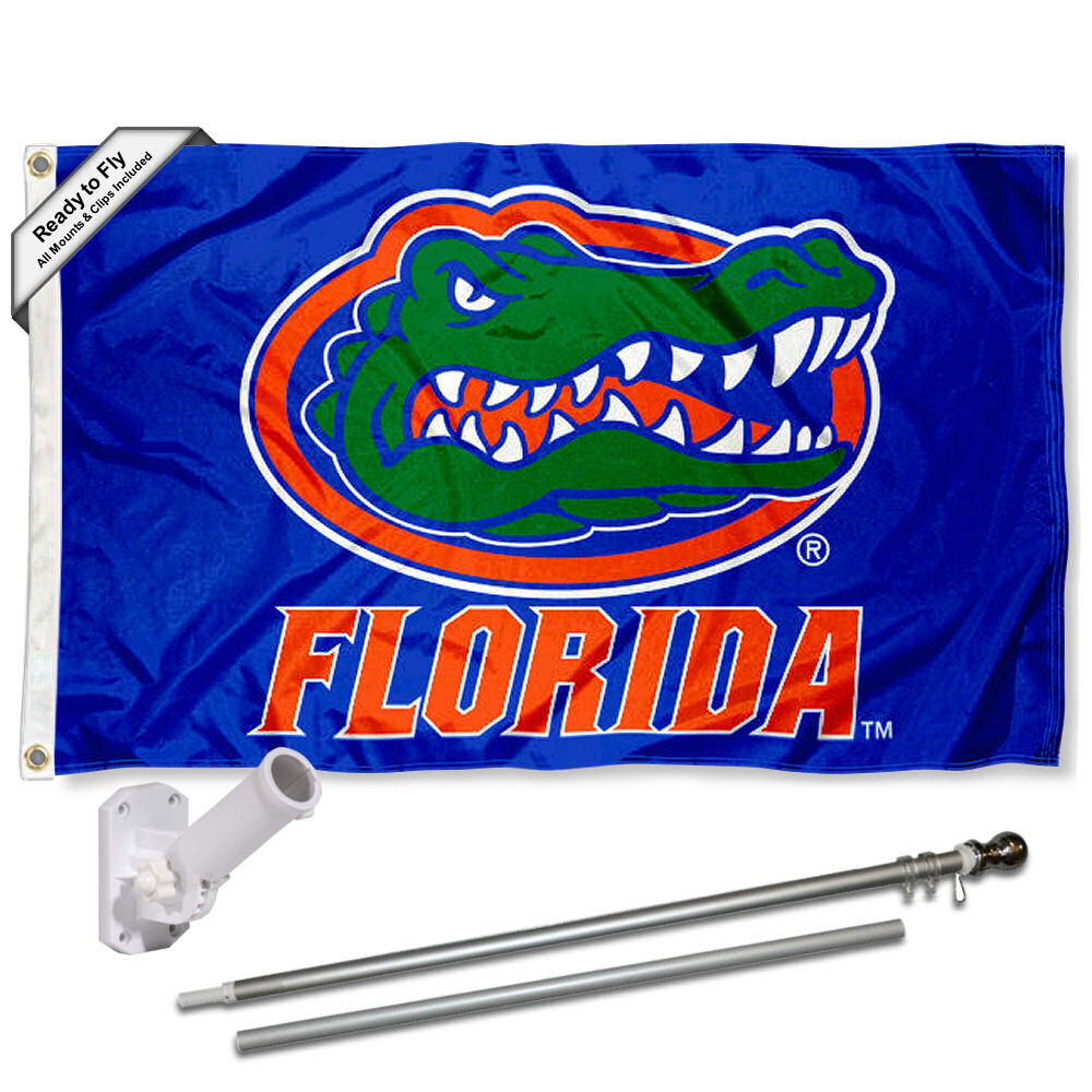 Florida UF Gators Blue 3x5 Flag and Accessory Kit