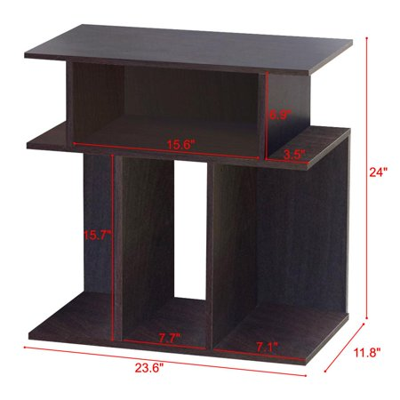 Yaheetech 3 Tier Accent Table Side End Console With 6 Open Display Shelves