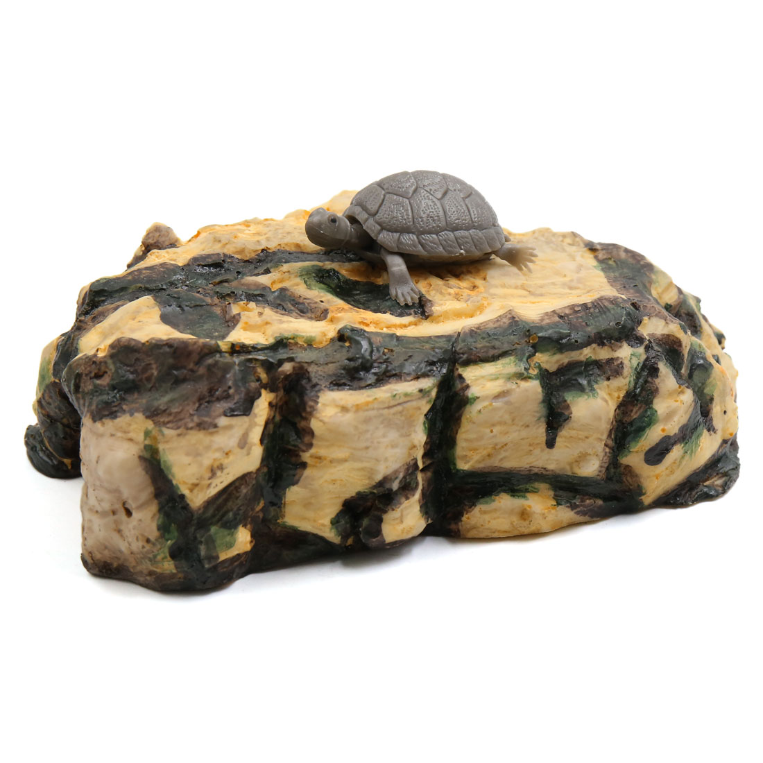 Resin Ramp Climb Stone Fish Tank Aquarium Landscape Decor for Turtles Tortoise