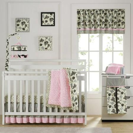 Laugh  Giggle   Smile Versailles Pink 10 Piece Crib Bedding Set