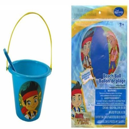 Jake the Pirate Sand Bucket and Shovel + Beach Ball Set
