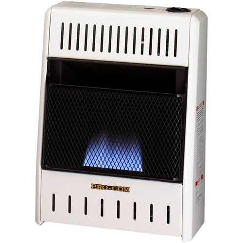 ProCom Dual Fuel Ventless Flame 10,000 BTU Natural Gas/Propane Infrared Wall Mounted Heater