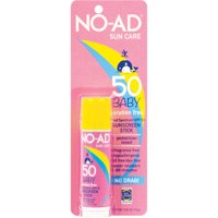 NO-AD Sun Care Baby Sunscreen Stick, SPF 50, .65 oz