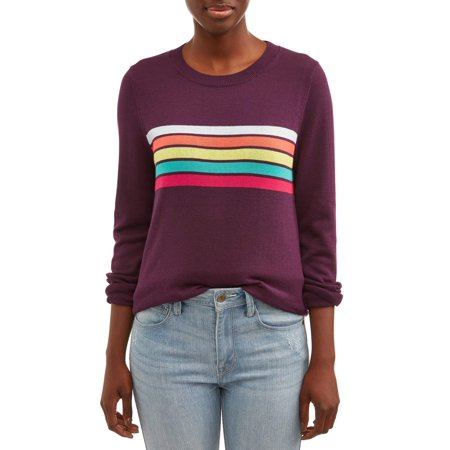 Women's Multi-color Stripe Pullover Sweater