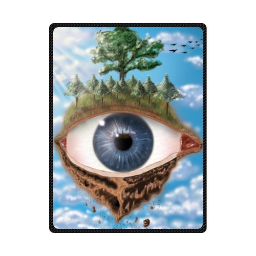 CADecor Creative Eye Land Blue Sky Fleece Blanket Throws 58x80 inches