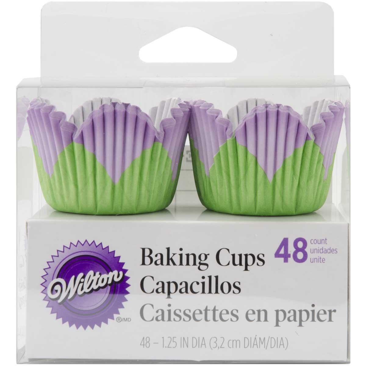 Wilton Mini Petal Baking Cup Liner, Lavender 48 ct. 415-95045