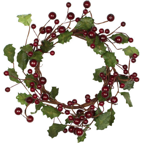 Mills Floral Company 6'' Holly Berry Wreath (Set of 2)