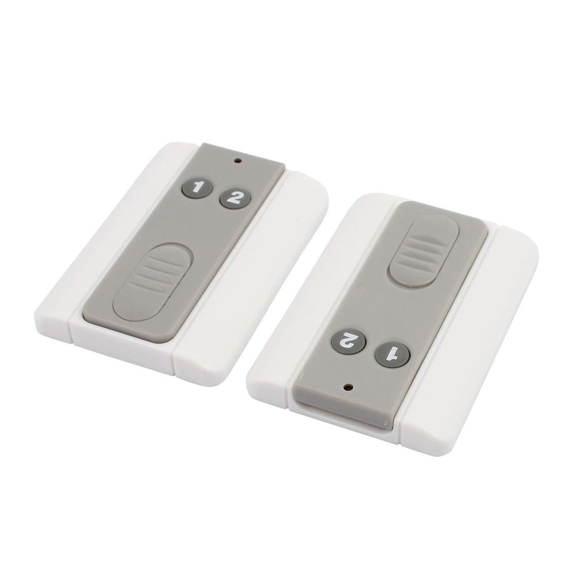 2pcs 100 Meters 2 Keys Plastic Shell Battery Powered Remote Controller w Base - image 1 de 3