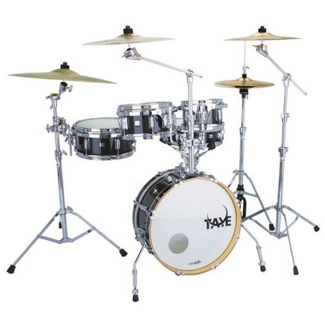 Taye GK518F-BKM 5 Piece Gokit Hardware Drum Pack, Black Microflake