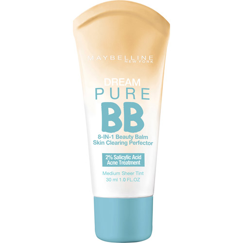 L'OREAL SA Maybelline Dream Pure BB 8 - in - 1 Skin Clearing Perfector, Medium