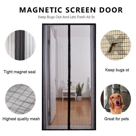 Partition Door - Mother's Day Gift,Magnetic Screen Door - Self Sealing, Heavy Duty, Hands Free Mesh Partition Keeps Bugs Out - Pet and Kid Friendly - Patent Pending Keep Open Feature - 36