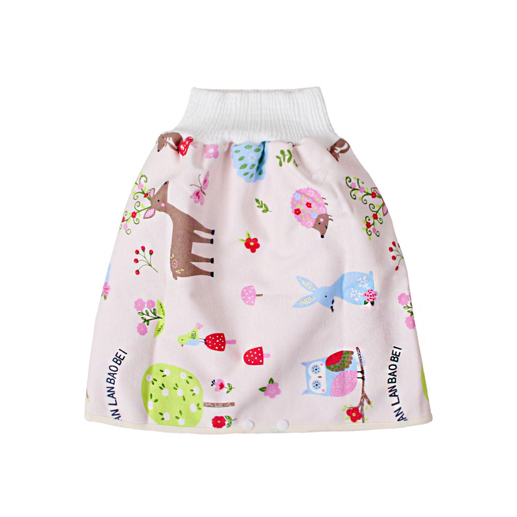 2 in 1 Waterproof and Absorbent Shorts Night Time Sleeping Clothes M Animal LLDE Comfy Childrens Diaper Skirt Shorts