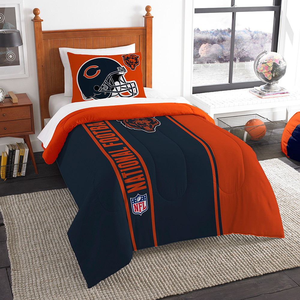 "Chicago Bears NFL Twin Comforter Set (Soft & Cozy) (64"" x 86"")"