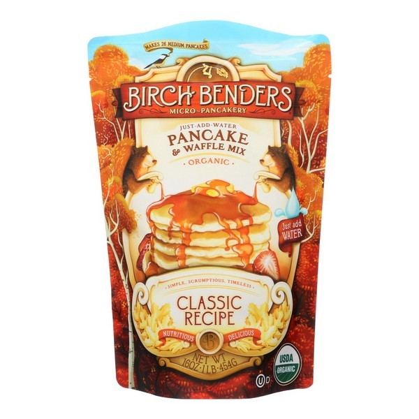 Birch Benders Pancake And Waffle Mix Classic Case Of 6 16 Oz. by