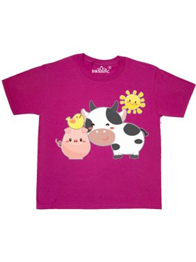 fa230f65e Product Image Fun Farm Animals- cow, pig, chick Youth T-Shirt