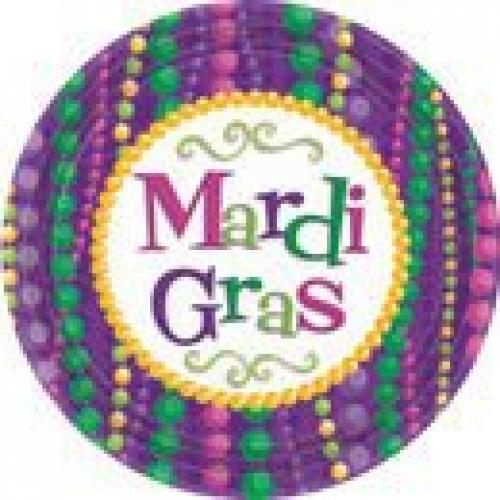 Mardi Gras Celebration Lunch Plates 10ct