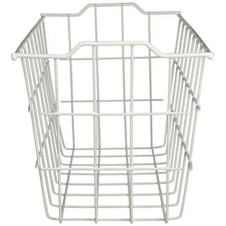 Panacea Vinyl Coated Wire Storage Basket, White