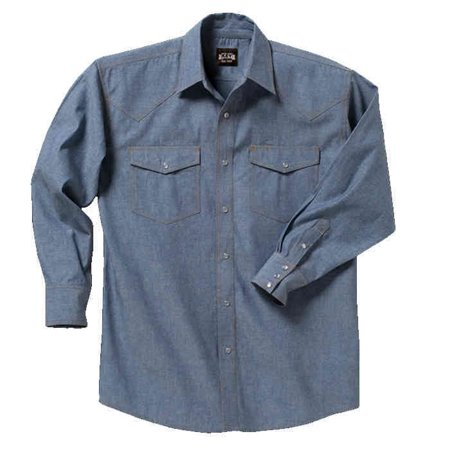 f24240694c Key - Pre-Washed Long-Sleeve Chambray Western Shirt - Walmart.com