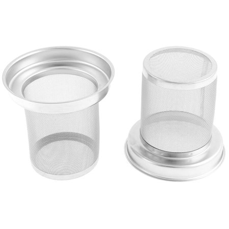 2 Pcs Stainless Steel Round Loose Tea Infuser Filter Strainer Cup