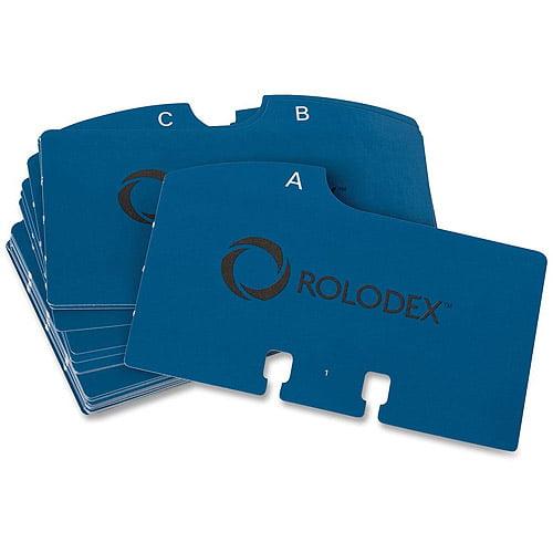 Rolodex A-Z Rotary Blue Cards Refills