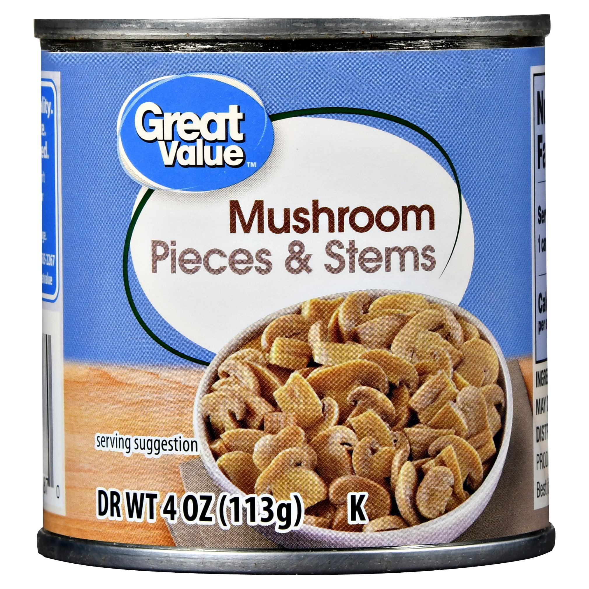 Great Value Pieces & Stems Mushrooms, 4 Oz