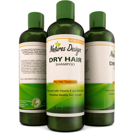 Natures Design Dry Hair Shampoo for Women and Men with Natural Argan Oil Vitamin E and Aloe Vera Nourishing Formula to Reduce Frizz and Tangles Naturally Best Moisturizing Shampoo 8