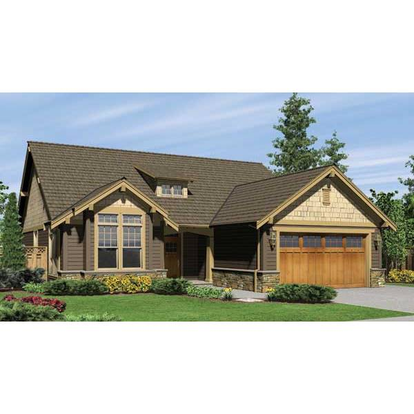 TheHouseDesigners-5525 Craftsman House Plan with Crawl Space Foundation (5 Printed Sets)