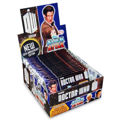 Doctor Who Alien Attax 50th Ann. Pack: Box of 24