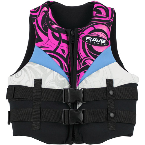 Rave Sport Women's Neo Life Vest, Large, Black