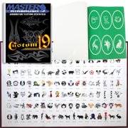 SET 19 BOOK 120 Reusable Airbrush Temporary Tattoo Stencil Art Designs Templates