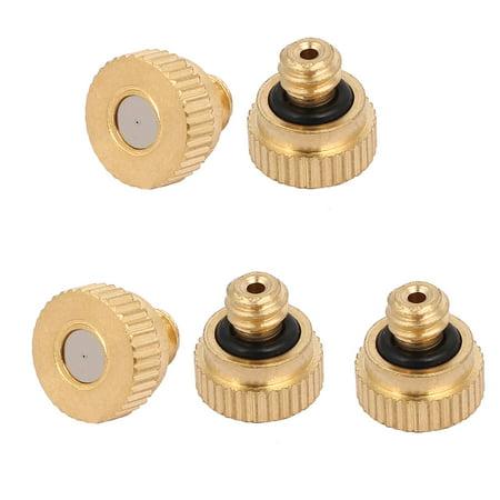 orifice 0.2mm Dia 9mm longue laiton buse Brume ton or 5pc - image 2 de 2