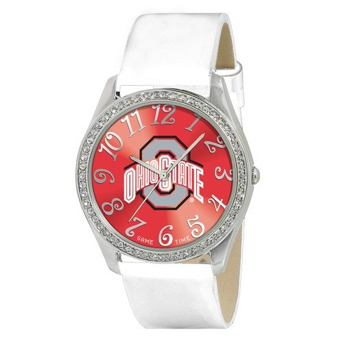 Game Time NCAA Women's Ohio State Buckeyes Glitz Watch, Silver