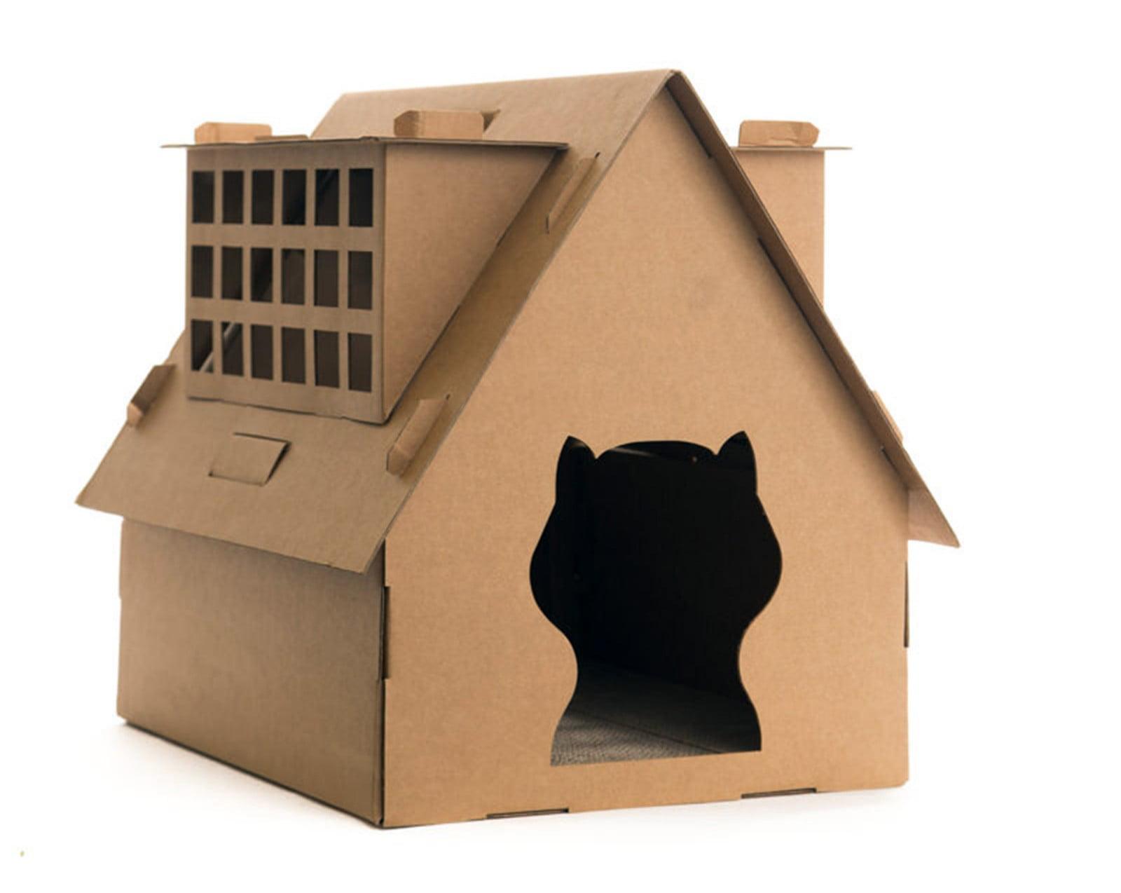 Catopia Diy Cat House For Indoor Cats Toys Cat Corner Scratcher Play Cat Toys Cat Furniture And Scratching Post Walmart Com Walmart Com