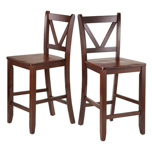 Winsome Victor 2-Piece V-Back Counter-Height Stool Walnut  sc 1 st  Walmart & Winsome Victor 2-Piece V-Back Counter-Height Stool Walnut ... islam-shia.org