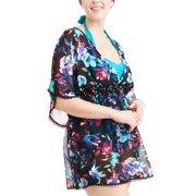 950f8b1e7bc27 Women s Plus-Size Open Back Printed Chiffon Swim Cover-Up Image 3 ...