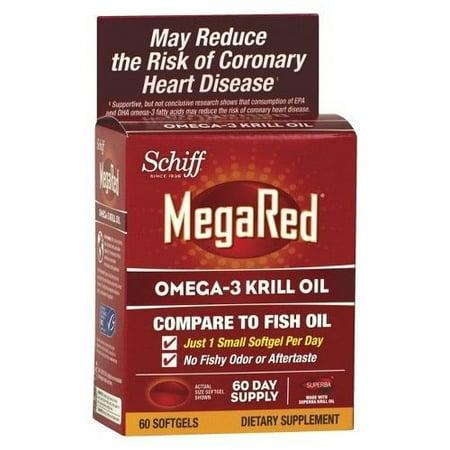 2 pack schiff mega red omega 3 krill oil 60 softgels for Mega red fish oil