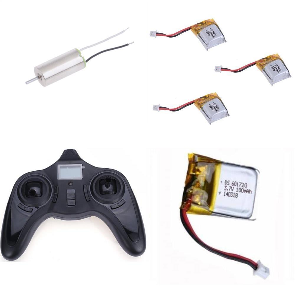 HobbyFlip 2.4Ghz TX Remote Control LiPo Battery CW/CCW 6mm Motor for Cheer X1