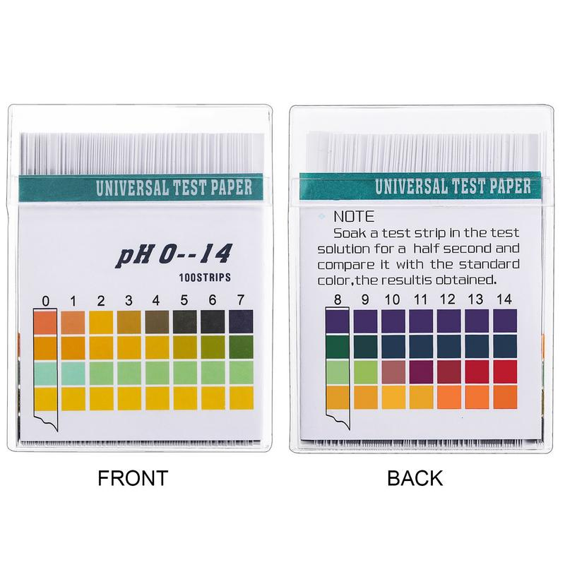 XGao PH 1-14 Test Paper 80 Strips Extensive PH Test Strips Litmus Test Paper PH Test Strip,Test PH for Saliva Urine Aquarium Water Soil Testing