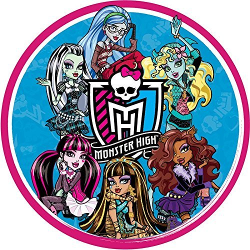 Surprising Monster High Round Edible Image Photo Cake Topper Sheet Birthday Funny Birthday Cards Online Chimdamsfinfo