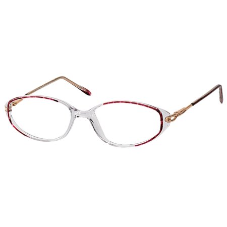 Bocci Women's Eyeglasses 230 02 Burgundy Crystal Full Rim Optical Frame (Optical Crystal Block)