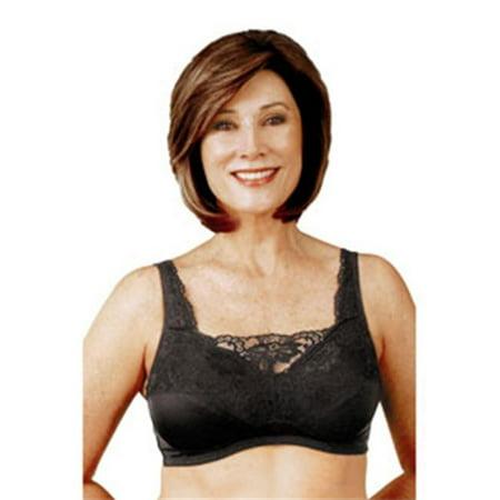 classique 765se post mastectomy fashion bra, black - size 44dd