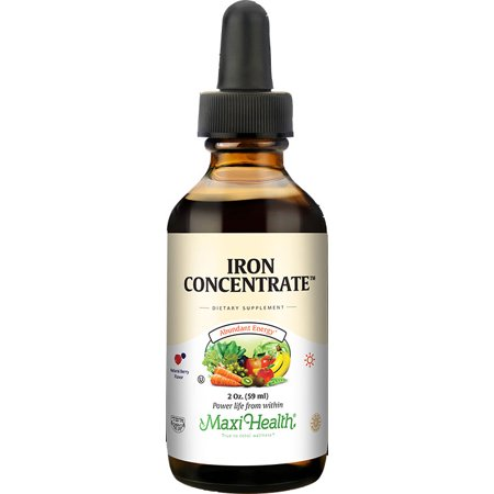 Maxi Health Kosher Iron Concentrate Natural Berry Flavor - 2