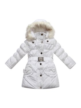 Richie House Big Girls Graphite Fur Hood Padded Winter Jacket 7