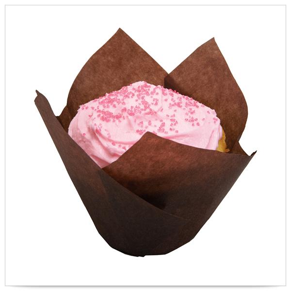 2 x 2 x 3x1/2 Small Chocolate Tulip Cupcake Wrapper/Case of 2500