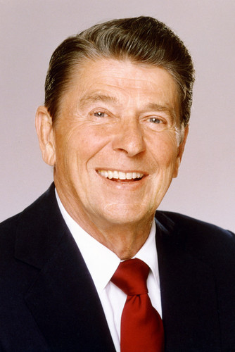 Ronald Reagan American Flag Photo Inch Poster 24x36 inch