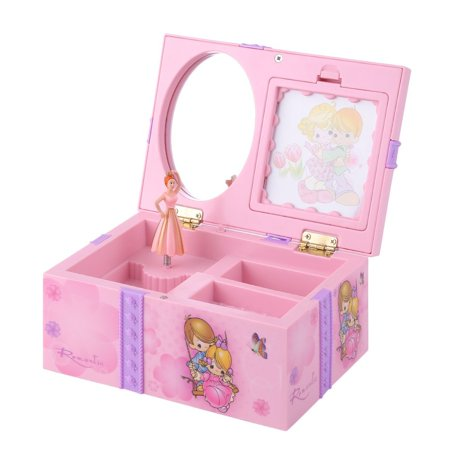 Multifunctional Music Jewelry Box Lovely Birthday Gift Beautiful With Mirror And Ballet Girl Style Wedding Home