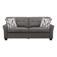 Emerald Home Clarkson Sofa Bed with Pillows, Grey