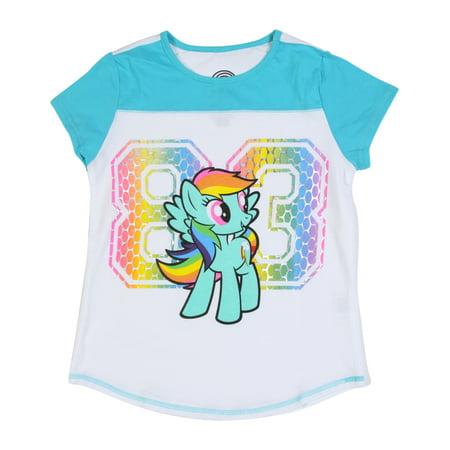 Rainbow Dash '83 Colorblocked White/Turquoise - Rainbow Dash Hoodie